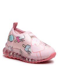 Bibi - Sneakersy BIBI - Roller Celebration 1079104 Print/Ice Cream/Sugar. Okazja: na spacer. Kolor: różowy. Materiał: materiał. Szerokość cholewki: normalna. Wzór: nadruk