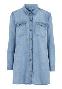 Cellbes Długa koszula dżinsowa błękitny denim female niebieski 38/40. Kolor: niebieski. Materiał: denim. Długość rękawa: długi rękaw. Długość: długie. Wzór: melanż
