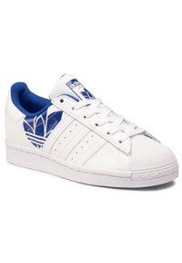 Białe półbuty Adidas z cholewką, na co dzień