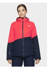 Czerwona kurtka 4f na zimę