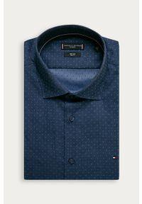 Niebieska koszula Tommy Hilfiger Tailored długa, na co dzień