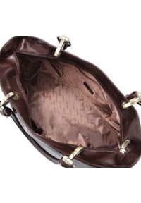 Wittchen - Kuferek damski skórzany vintage matowy. Kolor: brązowy. Wzór: aplikacja. Materiał: skórzane. Styl: vintage