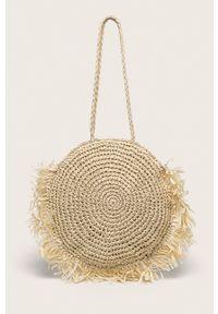 Beżowa torba plażowa ANSWEAR na ramię