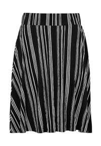 Cellbes Spódnica w paski z gniecionego dżerseju Czarny w paski female czarny/ze wzorem 38/40. Kolor: czarny. Materiał: jersey. Wzór: paski