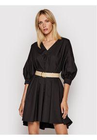 Imperial Sukienka codzienna ABWSBBD Czarny Regular Fit. Okazja: na co dzień. Kolor: czarny. Typ sukienki: proste. Styl: casual