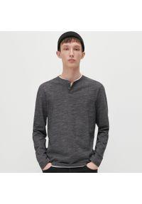 Reserved - Koszulka longsleeve - Szary. Kolor: szary. Długość rękawa: długi rękaw