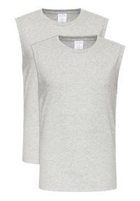 Calvin Klein Underwear Komplet 2 tank topów 000NM1687A Szary Regular Fit. Kolor: szary