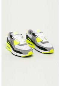Szare buty sportowe Nike na sznurówki, z cholewką, z okrągłym noskiem, na średnim obcasie
