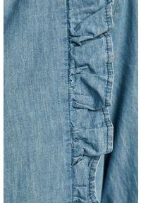 Niebieska koszula ANSWEAR casualowa, na co dzień, ze stójką