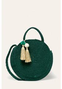 Zielona torba plażowa Pieces na ramię