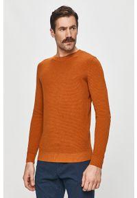 Tom Tailor Denim - Sweter. Okazja: na co dzień. Kolor: brązowy. Materiał: denim. Styl: casual