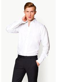 Lancerto - Koszula Biała Ester 2. Okazja: na co dzień. Kolor: biały. Materiał: tkanina, len, wełna, bawełna. Wzór: haft, ze splotem. Sezon: lato. Styl: wizytowy, elegancki, casual