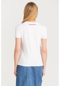 T-shirt Sportmax Code w kolorowe wzory, z okrągłym kołnierzem
