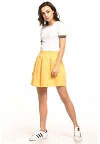 Żółta spódnica rozkloszowana Tessita krótka