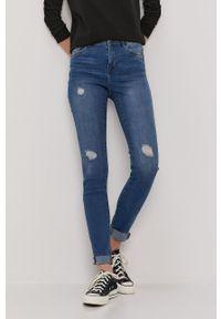 Vero Moda - Jeansy Tanya. Kolor: niebieski