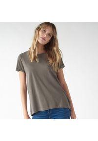 Brązowy t-shirt Mohito