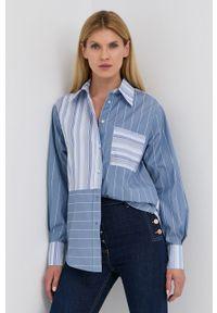 Beatrice B - Koszula bawełniana. Kolor: niebieski. Materiał: bawełna. Długość rękawa: długi rękaw. Długość: długie