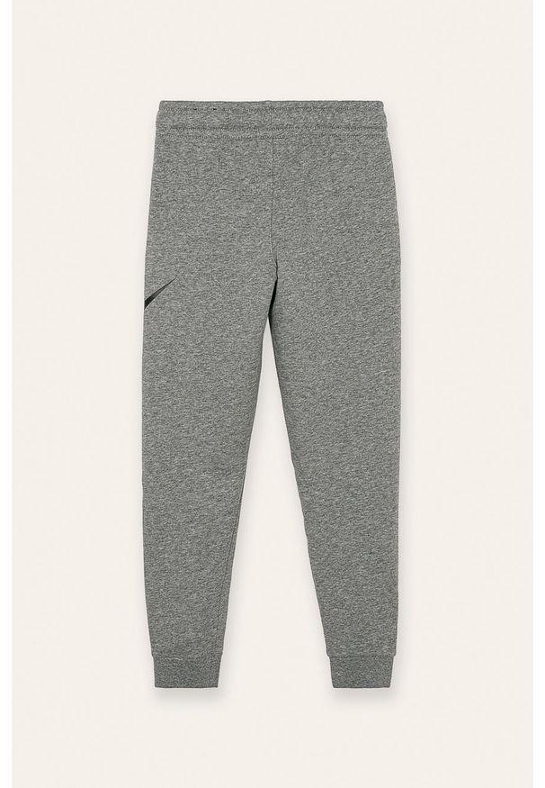 Szare spodnie dresowe Nike Kids z nadrukiem