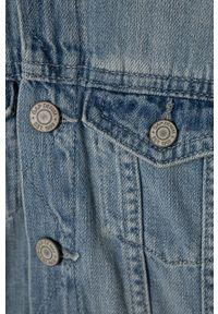 GAP - Kurtka dziecięca 74-110 cm. Okazja: na co dzień. Typ kołnierza: kaptur. Kolor: niebieski. Materiał: materiał, jeans, bawełna, poliester. Styl: casual #4