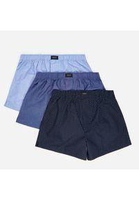 Bawełniane bokserki 3 pack - Niebieski