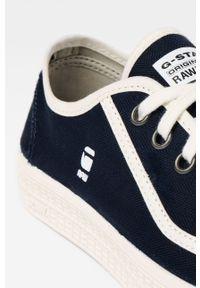 Niebieskie niskie trampki G-Star RAW z cholewką, z okrągłym noskiem, na sznurówki #6