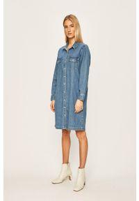 Niebieska sukienka Levi's® mini, na co dzień, prosta