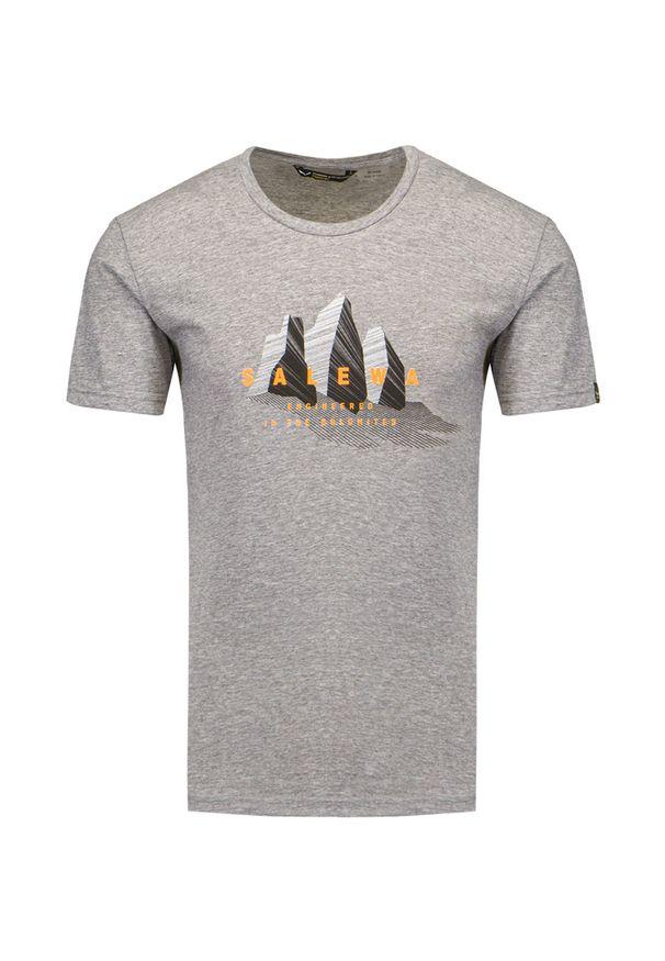 Salewa - T-shirt SALEWA LINES GRAPHIC DRY. Okazja: na co dzień. Materiał: bawełna, poliester. Styl: casual