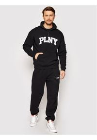 PLNY Textylia Polar Stanford PT-BL-RA-00001 Czarny Regular Fit. Kolor: czarny. Materiał: polar
