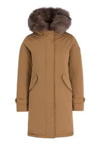 Brązowa kurtka zimowa Hetrego
