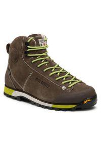 Zielone buty trekkingowe Dolomite Gore-Tex, trekkingowe