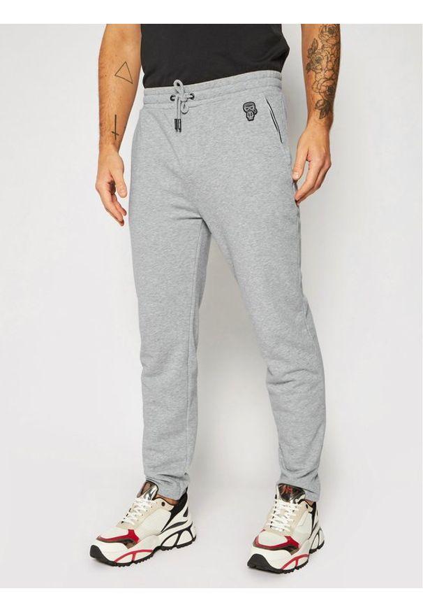 Szare spodnie dresowe Karl Lagerfeld