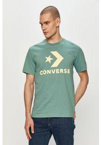 Converse - T-shirt. Okazja: na co dzień. Kolor: zielony. Wzór: nadruk. Styl: casual