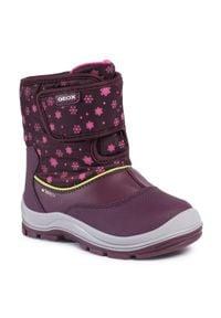 Fioletowe buty zimowe Geox z cholewką