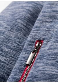 Bluza rozpinana z polaru w ludowym stylu bonprix niebieski indygo melanż. Typ kołnierza: kaptur. Kolor: niebieski. Materiał: polar. Wzór: melanż #4