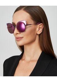 Fendi - FENDI - Fioletowe okulary przeciwsłoneczne. Kolor: różowy, wielokolorowy, fioletowy