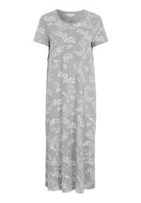 Cellbes Koszula nocna z krótkim rękawem szary melanż we wzory female szary/ze wzorem 50/52. Kolor: szary. Materiał: jersey. Długość: krótkie. Wzór: melanż