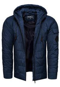 Niebieska kurtka Recea na zimę, z kapturem