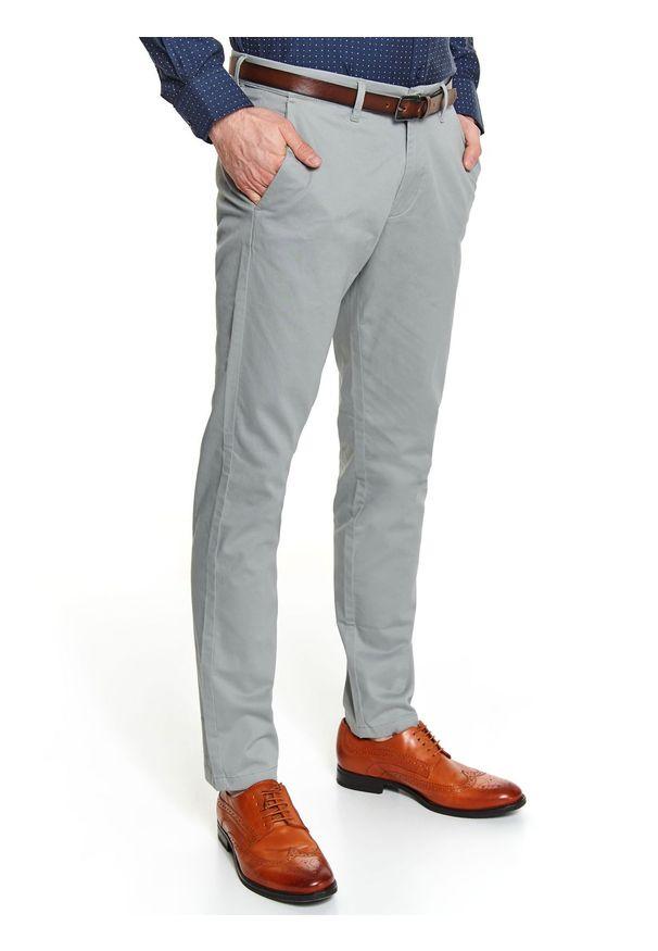 Szare spodnie TOP SECRET na jesień, w kolorowe wzory, casualowe