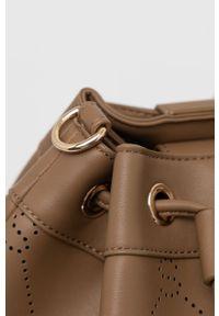 Sisley - Torebka. Kolor: brązowy. Rodzaj torebki: na ramię
