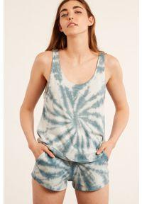 Etam - Top piżamowy Basil. Kolor: niebieski. Materiał: materiał