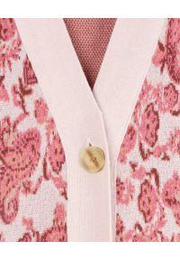 HEMANT & NANDITA - Wzorzysty kardigan Luana. Kolor: biały. Materiał: bawełna. Długość rękawa: długi rękaw. Długość: długie. Wzór: nadruk