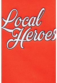 Local Heroes - Bluza. Typ kołnierza: kaptur. Kolor: pomarańczowy. Materiał: dzianina, materiał. Wzór: aplikacja