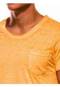 Żółty t-shirt Ombre Clothing #4