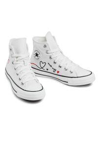 Converse - Trampki CONVERSE - Ctas Hi Vintage Wh 171159C Vintage White/Egre. Okazja: na co dzień. Kolor: biały. Materiał: materiał. Szerokość cholewki: normalna. Styl: vintage