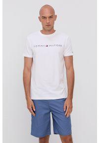 TOMMY HILFIGER - Tommy Hilfiger - Komplet piżamowy. Kolor: biały. Materiał: bawełna, dzianina, tkanina. Wzór: nadruk