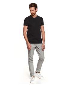 Czarny t-shirt TOP SECRET z krótkim rękawem, krótki, gładki