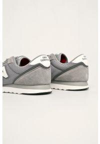 Szare sneakersy New Balance z okrągłym noskiem, z cholewką