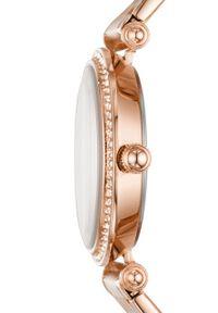 Fossil - FOSSIL - Zegarek ES4711. Kolor: brązowy. Materiał: materiał