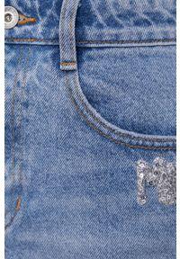 Miss Sixty - Szorty jeansowe. Okazja: na co dzień. Kolor: niebieski. Materiał: jeans. Wzór: aplikacja. Styl: casual