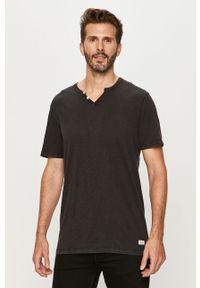 Czarny t-shirt PRODUKT by Jack & Jones na co dzień, krótki, casualowy